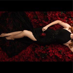 Sherri Hill Spring 2017 High Neck Black Lace Dress